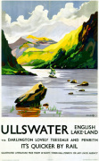 Ullswater - English Lake-Land via Darlington art print