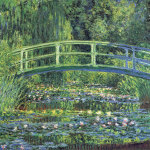 Water Lily Pond, 1899 (blue) giclee art print