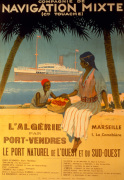Algeria via Port-Vendres, 1920 giclee art print