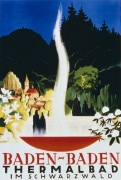 Baden-Baden Thermal Springs, 1937 giclee art print