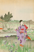 Beauties Looking at the Irises in Yoshino-en giclee art print