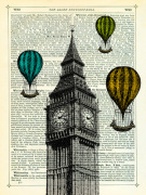Big Ben and Balloons giclee art print