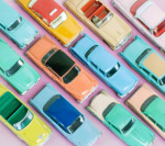 Colourful Cars II giclee art print