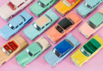 Colourful Cars giclee art print