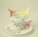 Cup of Butterflies art print