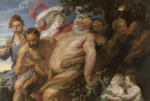 Drunken Silenus supported by Satyrs giclee art print