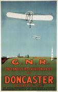 Englands First Aviation Races - Doncaster 1909 art print