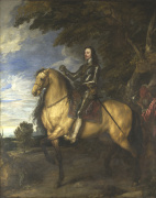 Equestrian Portrait of Charles I giclee art print