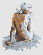 Figure, Back View giclee art print