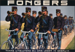 Fongers Cycles, 1915 giclee art print