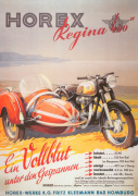 Horex Regina Motorcycle and Sidecar, 1955 giclee art print