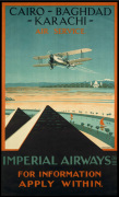 Imperial Airways - Cairo-Baghdad-Karachi art print