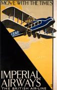 Imperial Airways - Travel with the Times art print