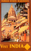 Indian State Railways - Benares art print