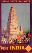 Indian State Railways - Budh Gaya art print