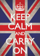 Keep Calm and Carry On - Union Jack art print