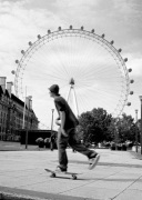 London Eye skater giclee art print