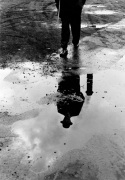 Man walking in rain c.1961 giclee art print