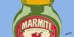 Marmite - Blue (detail) giclee art print