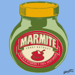 Marmite - Blue giclee art print