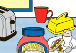 Marmite - Kitchen Scene 2 giclee art print
