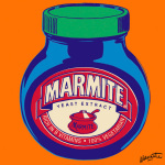 Marmite - Orange giclee art print