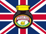 Marmite - Union Jack (Red, White & Blue) giclee art print