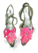 Pink Shoes giclee art print