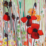 Poppy Field (detail) giclee art print