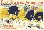 Simpson Bicycle Chains, 1896 giclee art print
