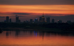 Sunset over Warsaw 2006 giclee art print