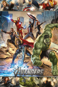 The Avengers - Action art print