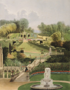 The Garden on the Hill Side, Castle Combe giclee art print