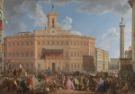 The Lottery in Piazza di Montecitorio giclee art print