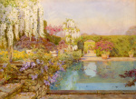 The Swimming Pool, Dyffryn giclee art print