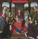 The Virgin and Child with Saints and Donors (The Donne Triptych) giclee art print