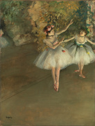 Two dancers on a stage giclee art print