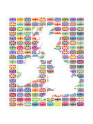 Union Flags II art print