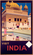 Visit India - Golden Temple art print