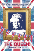 We're Partying with The Queen art print