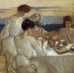 Afternoon Tea on the Terrace giclee art print