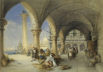 Greek Merchants and Fruit Sellers in the Piazzetta, 1848 giclee art print