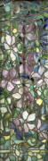 Stained Glass with Clematis, c.1900 (One Panel) giclee art print