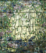 Stained Glass with Clematis, c.1900 giclee art print