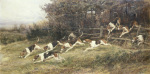 The Blankney Hounds, 1895 giclee art print