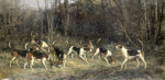 The Blankney Hounds giclee art print