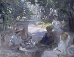 The Garden Party - Tea being served to a Convalescent Soldier giclee art print