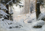 Woodland Valley under Snow, 1904 giclee art print