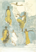 Cambodian Dancers art print