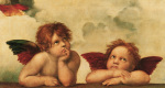 Cherubs (Detail from Sistine Madonna) art print